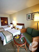 パタヤ オーシャンビューのホテル : サイアム ベイショア リゾート & スパ(Siam Bayshore Resort & Spa)のトロピカル デラックス(シングル)ルームの設備 Bedroom