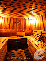 パタヤ フィットネスありのホテル : シグマ リゾート ジョムティエン パタヤ 「Sauna」