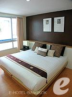 バンコク ファミリー&グループのホテル : シーロム コンベント ガーデン(Silom Convent Garden)の1 ベッドルーム F ルームの設備 Bedroom
