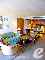 バンコク シーロム・サトーン周辺のホテル : シーロム セリーヌ(Silom Serene)の1ベッドルーム スイート(ダブル)ルームの設備 Bedroom