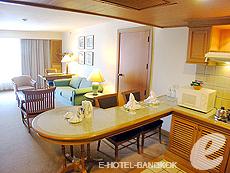 バンコク ファミリー&グループのホテル : シーロム セリーヌ(Silom Serene)のお部屋「1ベッドルーム スイート(ダブル)」