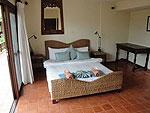 サムイ島 チョンモーンビーチのホテル : ソムオー ヴィラ(Som O Villa)の3ベッドルームルームの設備 Bedroom