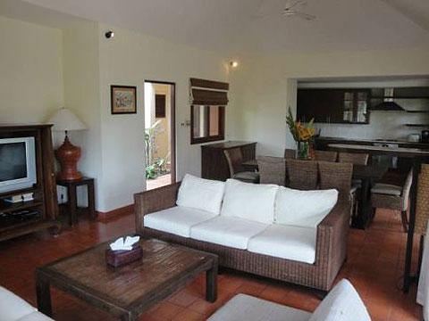サムイ島 チョンモーンビーチのホテル : ソムオー ヴィラ(1)のお部屋「3ベッドルーム」