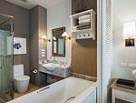 プーケット プールアクセスのホテル : シュガー マリーナ リゾート ノウティカル カタ ビーチ(Sugar Marina Resort NAUTICAL Kata Beach)のデラックス プール アクセスルームの設備 Bath Room