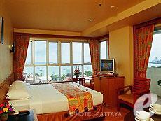 パタヤ ジョイナーフィー無料(JF無料)のホテル : サンシャイン ホテル & レジデンス(1)のお部屋「デラックス シービュー レジデンス ウィング」