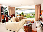 Living Room : Two Bedroom Apartment at Surin Park Service Apartments, Surin Beach, Phuket