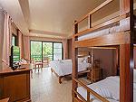 プーケット 5,000円以下のホテル : スワン パーム リゾート(Suwan Palm Resort)のファミリー ルームルームの設備 Bedroom