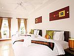 プーケット ファミリー&グループのホテル : タマリンド ヴィラ プーケット(Tamarind Villa Phuket)の3ベッドルームルームの設備 Second Bedroom