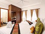 プーケット ファミリー&グループのホテル : タマリンド ヴィラ プーケット(Tamarind Villa Phuket)の4ベッドルームルームの設備 Second Bedroom