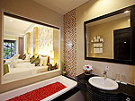 プーケット ファミリー&グループのホテル : アクセス リゾート & ヴィラ(Access Resort & Villas)のプールアクセス デラックス シングル(グリーンウィング)ルームの設備 Bath Room