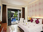 プーケット プールアクセスのホテル : アクセス リゾート & ヴィラ(Access Resort & Villas)のプール アクセス デラックス ツイン(グリーン ウィング)ルームの設備 Bedroom