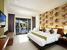 プーケット ファミリー&グループのホテル : アクセス リゾート & ヴィラ(1)のお部屋「プール アクセス デラックス ツイン(グリーン ウィング)」