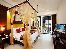 プーケット ファミリー&グループのホテル : アクセス リゾート & ヴィラ(1)のお部屋「プールアクセス デラックス ツイン(ブルーウィング)」