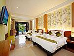 プーケット 10,000~20,000円のホテル : ザ アクセス リゾート & ヴィラ(The Access Resort & Villas)のデラックス ファミリー ツイン(グリーン ウィング)ルームの設備 Bedroom