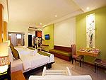 プーケット スパ併設のホテル : アクセス リゾート & ヴィラ(Access Resort & Villas)のデラックス ファミリー ツイン(グリーン ウィング)ルームの設備 Bedroom