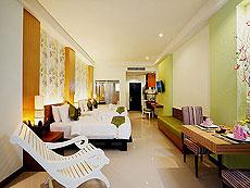 プーケット プールアクセスのホテル : アクセス リゾート & ヴィラ(1)のお部屋「デラックス ファミリー ツイン(グリーン ウィング)」