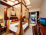 プーケット スパ併設のホテル : アクセス リゾート & ヴィラ(Access Resort & Villas)のプール スイート シングル(ブルーウィング)ルームの設備 Bed Room