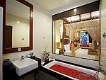 プーケット スパ併設のホテル : アクセス リゾート & ヴィラ(Access Resort & Villas)のプール スイート シングル(ブルーウィング)ルームの設備 Bath Room