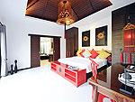 プーケット ヴィラコテージのホテル : ザ ベル プール ヴィラ リゾート プーケット(The Bell Pool Villa Resort Phuket)のラグジュアリー プライベート プールヴィラ 3ベッドルームルームの設備 Bedroom