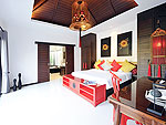 プーケット ヴィラコテージのホテル : ザ ベル プール ヴィラ リゾート プーケット(The Bell Pool Villa Resort Phuket)のプレジデンシャル プールヴィラ 4ベッドルームルームの設備 Bedroom