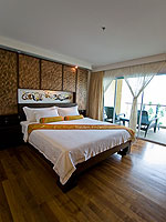 プーケット 5,000~10,000円のホテル : ザ ブリス サウス ビーチ パトン(The Bliss South Beach Patong)のデラックス スイートルームの設備 Bedroom