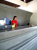 サムイ島 チャウエンビーチのホテル : ザ ブリーザ ビーチ リゾート & スパ 「Reception」