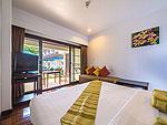 プーケット ファミリー&グループのホテル : ザ ブリーザ ビーチ リゾート カオラック(The Briza Beach Resort Khao Lak)のデラックス ウィズ テラスルームの設備 Bedroom
