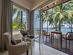プーケット ファミリー&グループのホテル : ザ ブリーザ ビーチ リゾート カオラック(The Briza Beach Resort Khao Lak)のグランド デラックス ビーチフロントルームの設備 Balcony
