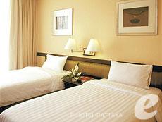 パタヤ シラチャーのホテル : ザ シティー ホテル シラチャ(1)のお部屋「デラックス (ツイン)」