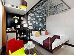 プーケット カタビーチのホテル : ザ カラー ホテル(The Color Kata)のスタンダードルームの設備 Bedroom