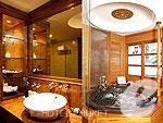 プーケット ヴィラコテージのホテル : ザ ダイヤモンド クリフ リゾート & スパ(The Diamond Cliff Resort & Spa)のオーシャン フロント スイート(シングル/ツイン)ルームの設備 Bathroom
