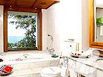 プーケット ヴィラコテージのホテル : ザ ダイヤモンド クリフ リゾート & スパ(The Diamond Cliff Resort & Spa)のオーシャン スイート(トリプル)ルームの設備 Bath Room