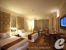 バンコク ファミリー&グループのホテル : ザ エメラルド ホテル(The Emerald Hotel)のお部屋「エメラルド デラックス」
