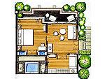 サムイ島 10,000~20,000円のホテル : ザ カラ サムイ(The Kala Samui)のデラックス スイート(2ベッドルーム)ルームの設備 Layout