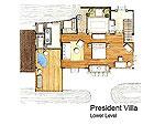サムイ島 10,000~20,000円のホテル : ザ カラ サムイ(The Kala Samui)のプレジデンタル ヴィラ(2ベッドルーム)ルームの設備 Layout