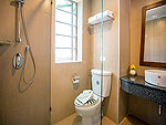 プーケット ヴィラコテージのホテル : ザ リーフ オン ザ サンズ(The Leaf On The Sands)のデラックス ガーデンビュールームの設備 Bathroom