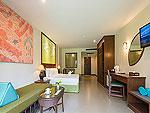 プーケット ヴィラコテージのホテル : ザ リーフ オーシャンサイド(The Leaf Oceanside)のガーデンルームの設備 Bedroom