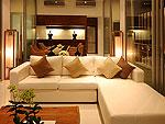 プーケット スリンビーチのホテル : ザ クウォーター プーケット リゾート(The Quarter Phuket Resort)のラグジュアリー プール ペントハウスルームの設備 Living Room