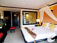 プーケット パトンビーチのホテル : ザ ロイヤル パーム ビーチフロント(1)のお部屋「スーペリア(ツイン/ダブル)」