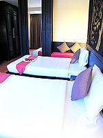 プーケット パトンビーチのホテル : ザ ロイヤル パーム ビーチフロント(The Royal Palm Beach Front)のデラックスルームの設備 Bedroom