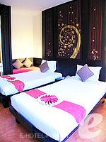 プーケット パトンビーチのホテル : ザ ロイヤル パーム ビーチフロント(The Royal Palm Beach Front)のデラックス (ツイン/ダブル)ルームの設備 Bedroom