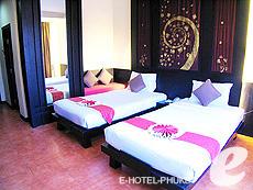 プーケット パトンビーチのホテル : ザ ロイヤル パーム ビーチフロント(1)のお部屋「デラックス (ツイン/ダブル)」