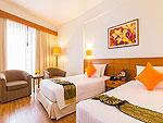 プーケット ファミリー&グループのホテル : ザ ロイヤル パラダイス ホテル & スパ(The Royal Paradise Hotel & Spa)のパラダイス スーパー スーペリア (シングル)ルームの設備 Bedroom