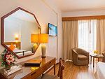 プーケット スパ併設のホテル : ザ ロイヤル パラダイス ホテル & スパ(The Royal Paradise Hotel & Spa)のパラダイス スーパー スーペリア (シングル)ルームの設備 Bedroom