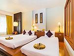 プーケット ファミリー&グループのホテル : ザ ロイヤル パラダイス ホテル & スパ(The Royal Paradise Hotel & Spa)のロイヤル デラックス(ツイン)ルームの設備 Bedroom
