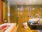プーケット ファミリー&グループのホテル : ザ ロイヤル パラダイス ホテル & スパ(The Royal Paradise Hotel & Spa)のロイヤル デラックス(ツイン)ルームの設備 Bath Room