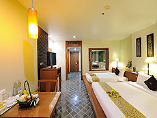 プーケット ファミリー&グループのホテル : ザ ロイヤル パラダイス ホテル & スパ(1)のお部屋「ロイヤル デラックス(ツイン)」