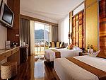 プーケット ファミリー&グループのホテル : ザ ロイヤル パラダイス ホテル & スパ(The Royal Paradise Hotel & Spa)のパラダイス デラックス(ツイン)ルームの設備 Bedroom