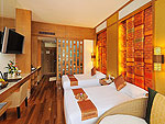 プーケット スパ併設のホテル : ザ ロイヤル パラダイス ホテル & スパ(The Royal Paradise Hotel & Spa)のパラダイス デラックス(ツイン)ルームの設備 Bedroom