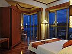 プーケット ファミリー&グループのホテル : ザ ロイヤル パラダイス ホテル & スパ(The Royal Paradise Hotel & Spa)のパラダイス スイートルームの設備 Bedroom